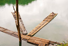 Bamboo rafts Royalty Free Stock Photos