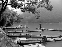 Bamboo rafts Royalty Free Stock Photos