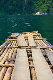 Bamboo rafts in Cheow Lan lake,  Thailand Stock Photos
