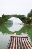 Bamboo rafts in Guilin Royalty Free Stock Images