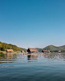 Bamboo rafts- Huai Krathing - loei - thailand Stock Images