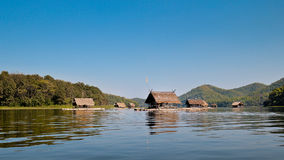 Bamboo rafts- Huai Krathing - loei - thailand Royalty Free Stock Photography