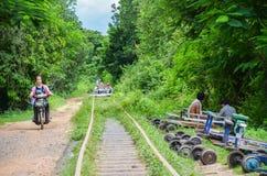 Bamboo Railway, Battambang, Cambodia. September 5, 2015 Royalty Free Stock Photo