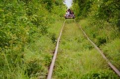 Bamboo Railway, Battambang, Cambodia. September 5, 2015 Stock Photos