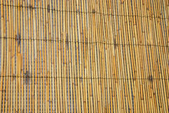Bamboo rattan curtain texture table background Royalty Free Stock Photo