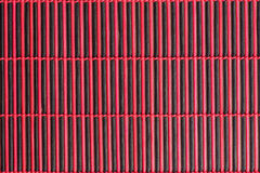 Bamboo red tablecloth Royalty Free Stock Images