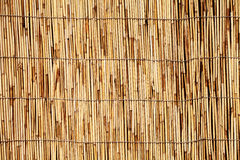 Bamboo or reed straw background Stock Photos