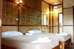 Bamboo resort Royalty Free Stock Images