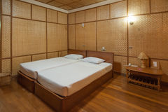 Bamboo resort bedroom Royalty Free Stock Images