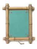 Bamboo retro  photo frame Royalty Free Stock Photos