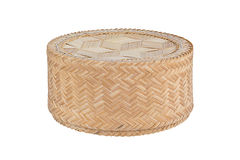 Bamboo rice box. Royalty Free Stock Images