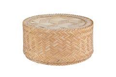 Bamboo rice box. Royalty Free Stock Images