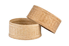 Bamboo rice box. Royalty Free Stock Photography