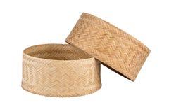 Bamboo rice box. Royalty Free Stock Photography