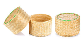 Bamboo rice box thai style Royalty Free Stock Photography
