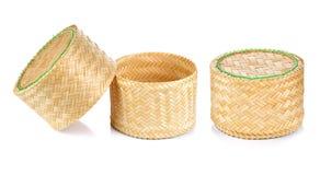 Bamboo rice box thai style Royalty Free Stock Photography
