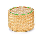 Bamboo rice box thai style Stock Photography