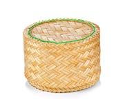 Bamboo rice box thai style Stock Photography