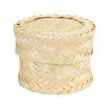Bamboo rice box thai style on white. Background Stock Images