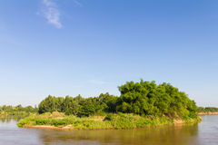 Bamboo river island Stock Image
