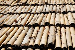Bamboo roof Royalty Free Stock Images