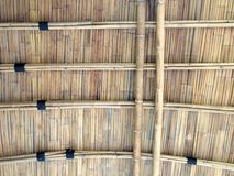 Bamboo roof Stock Image