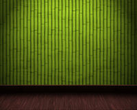 Bamboo Room Background With Wooden Floor Stock Image