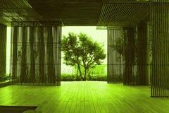 Bamboo room. Royalty Free Stock Photo
