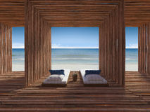 Bamboo room Royalty Free Stock Photo