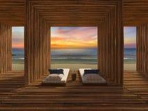 Bamboo room Stock Photo