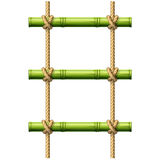 Bamboo rope ladder Royalty Free Stock Photo