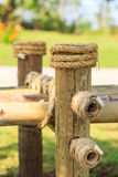 Bamboo and rope tied Stock Photos
