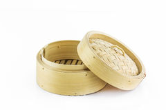 Bamboo round container shape for steaming asian food Stock Photography