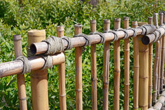 Bamboo rustic fence Royalty Free Stock Image
