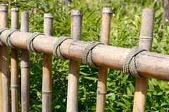 Bamboo rustic fence Royalty Free Stock Photography