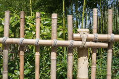 Bamboo rustic fence Stock Photography