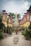 Bamboo-sand Pagoda. Bamboo weave-sand Pagoda in chiangmai thailand Royalty Free Stock Image