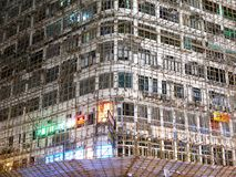 Bamboo Scaffold on Residential Old Apartment. In Hong Kong China Royalty Free Stock Photos