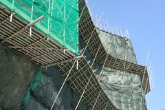 Bamboo scaffolding Stock Image