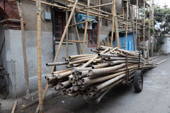 Bamboo scaffolding Stock Photo