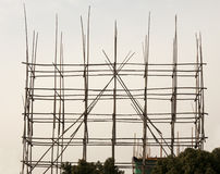 Bamboo scaffolding Royalty Free Stock Images