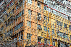 Bamboo scaffolding Stock Images