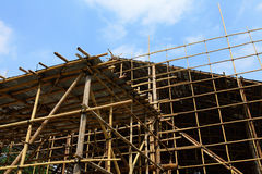 Bamboo scaffolding Royalty Free Stock Photography
