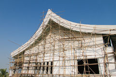 Bamboo scaffolding Royalty Free Stock Photo