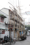 Bamboo scaffolding in China Royalty Free Stock Photography