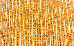 Bamboo scaffolding in construction site Stock Photography
