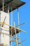 Bamboo scaffolding in construction site Stock Photo