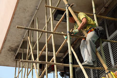 Bamboo scaffolding, Hong Kong Royalty Free Stock Photos