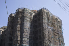 Bamboo scaffolding Royalty Free Stock Image