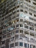 Bamboo Scaffolding on Residential Old Apartment. In Hong Kong China Royalty Free Stock Photo